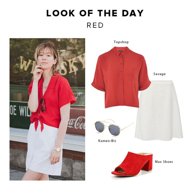 LOOK OF THE DAY: Red