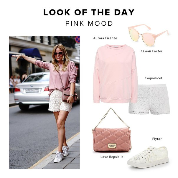 LOOK OF THE DAY: Pink mood